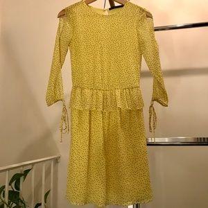 Zara chiffon polka dot dress 👗